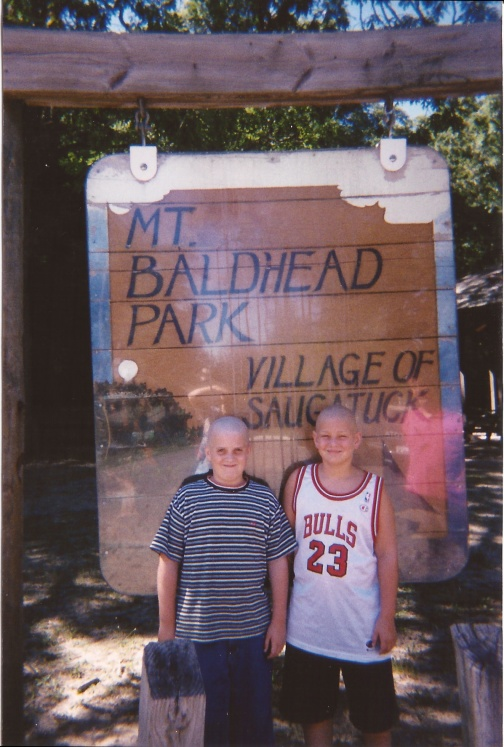 The year my brother and his friend, Ben, shaved their heads