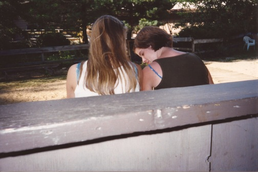 My senior year and second-to-last year at Saugatuck, sitting with my friend Sara