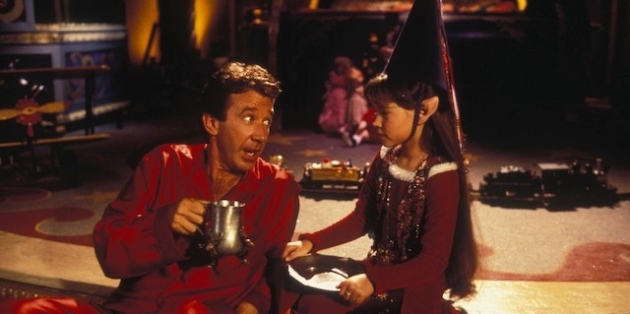Tim Allen and Paige Tamada in The Santa Clause.
